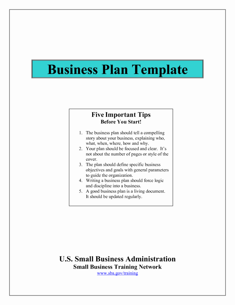 Sba Business Plan Template Beautiful Business Plan Template