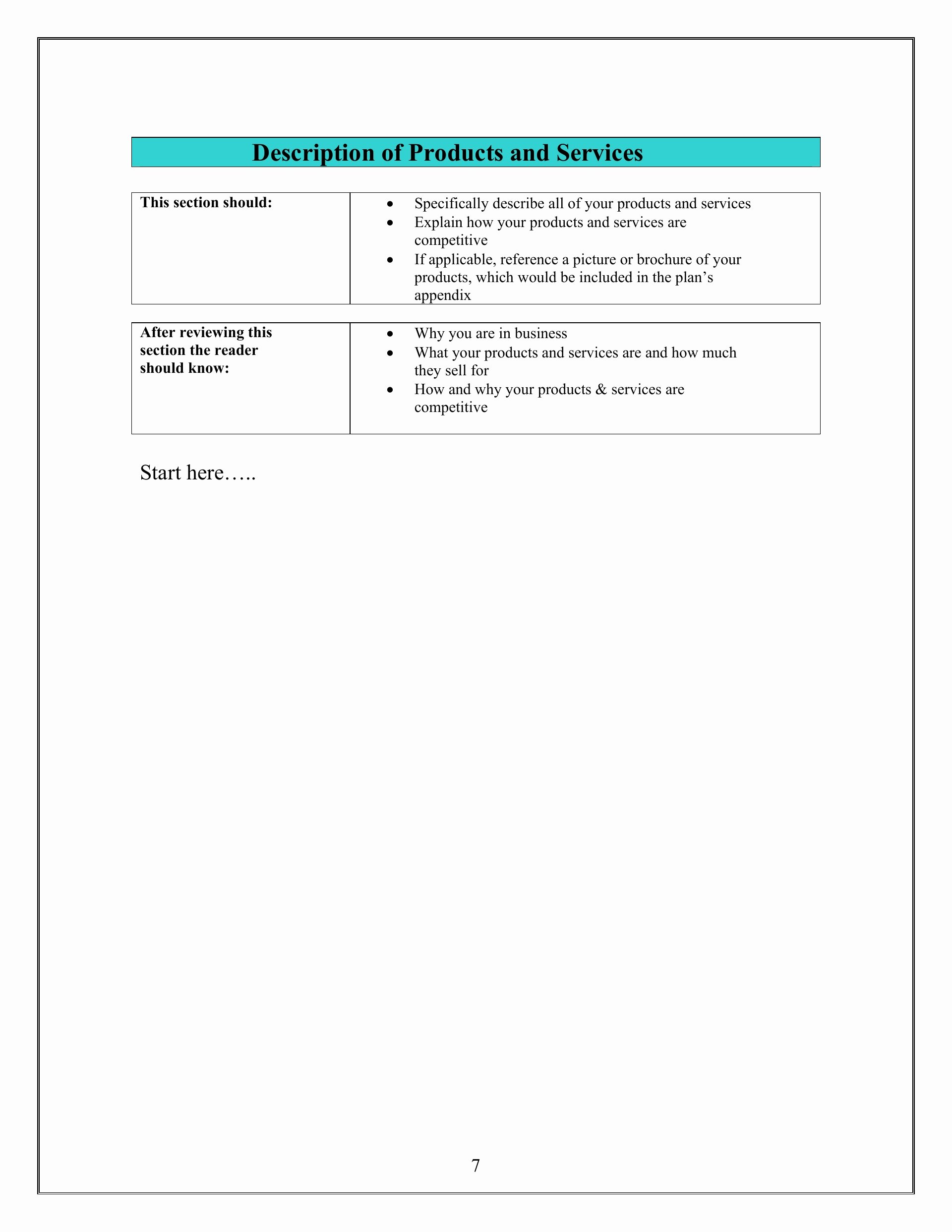 Sba Business Plan Template Fresh Small Business Strategy Templates