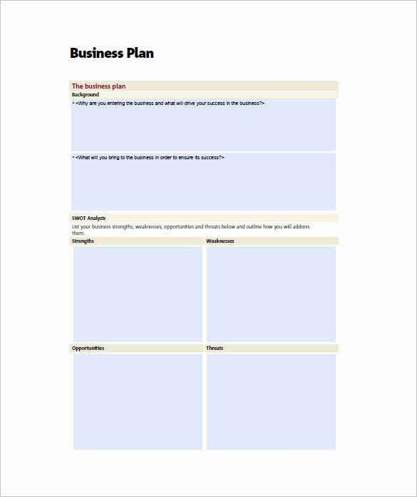 Sba Business Plan Template Luxury Small Business Plan Template 18 Word Excel Pdf Google