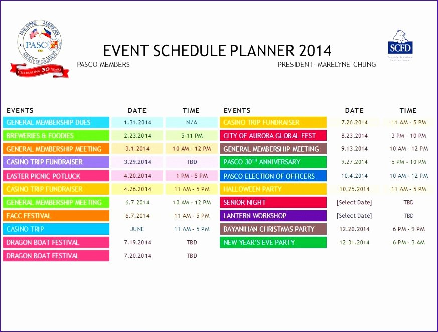 Schedule Of events Template Fresh 10 Daily Schedule Excel Template Exceltemplates