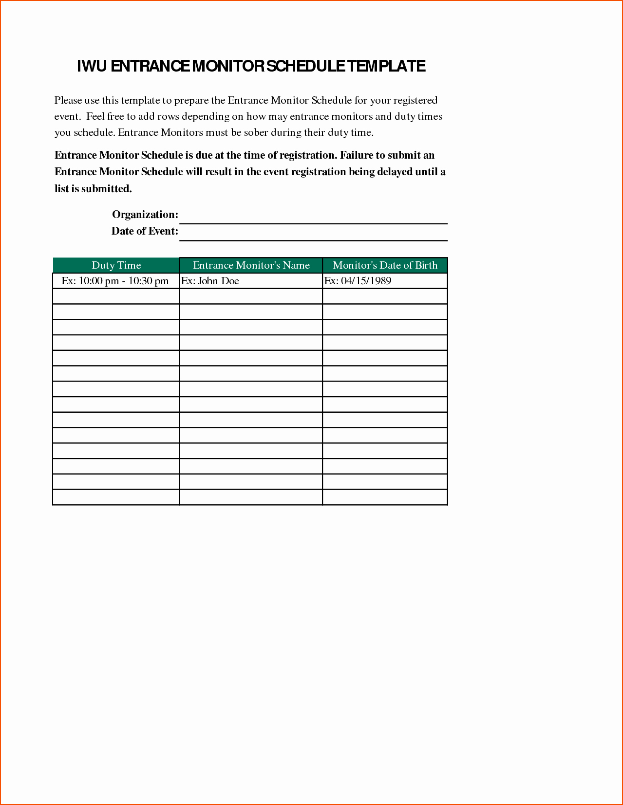 Schedule Of events Template Fresh 6 event Schedule Template Bookletemplate