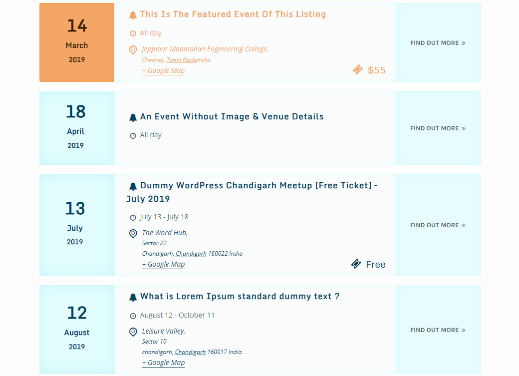 Schedule Of events Template New the events Calendar Shortcode and Templates – Wordpress