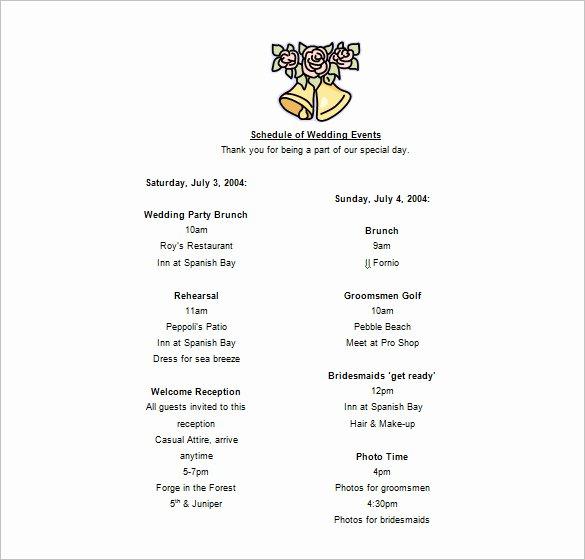 Schedule Of events Template Unique 19 event Schedule Templates & Samples Pdf Docs Excel
