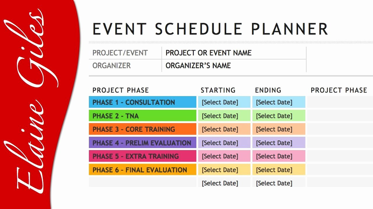Schedule Of events Template Unique Microsoft Word 2013 Schedule Template