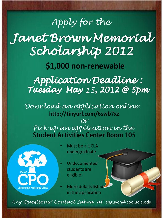 Scholarship Application Template Word Elegant Apply for the Janet Brown Memorial Scholarship – the