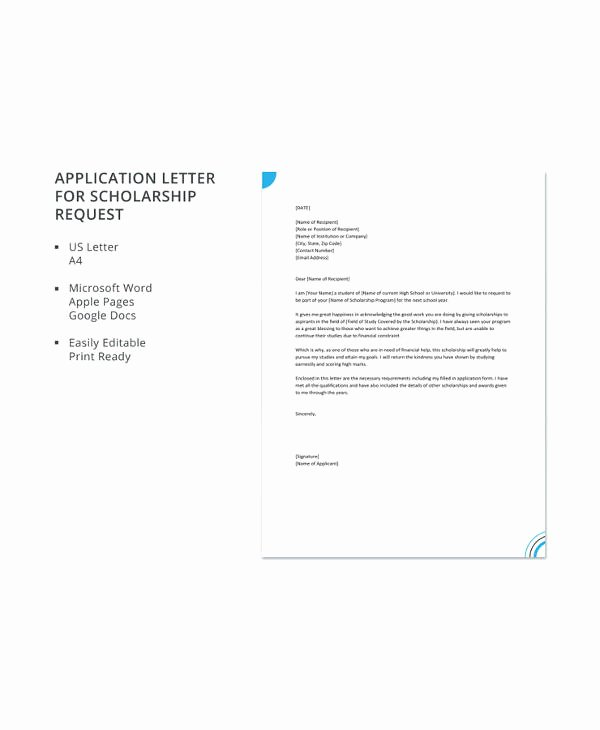 Scholarship Application Template Word Fresh 13 Scholarship Application Templates Pdf Doc