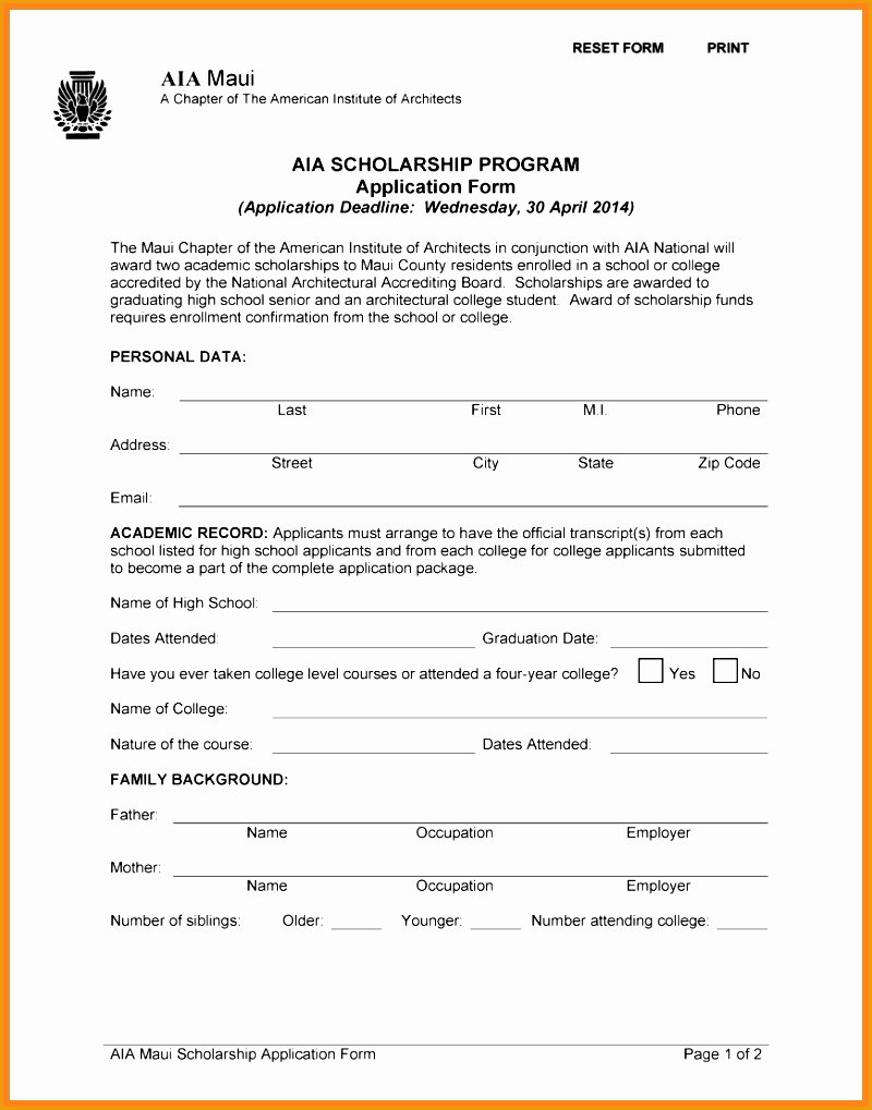 Scholarship Application Template Word Lovely 6 Blank Resume Template for High School Students Free
