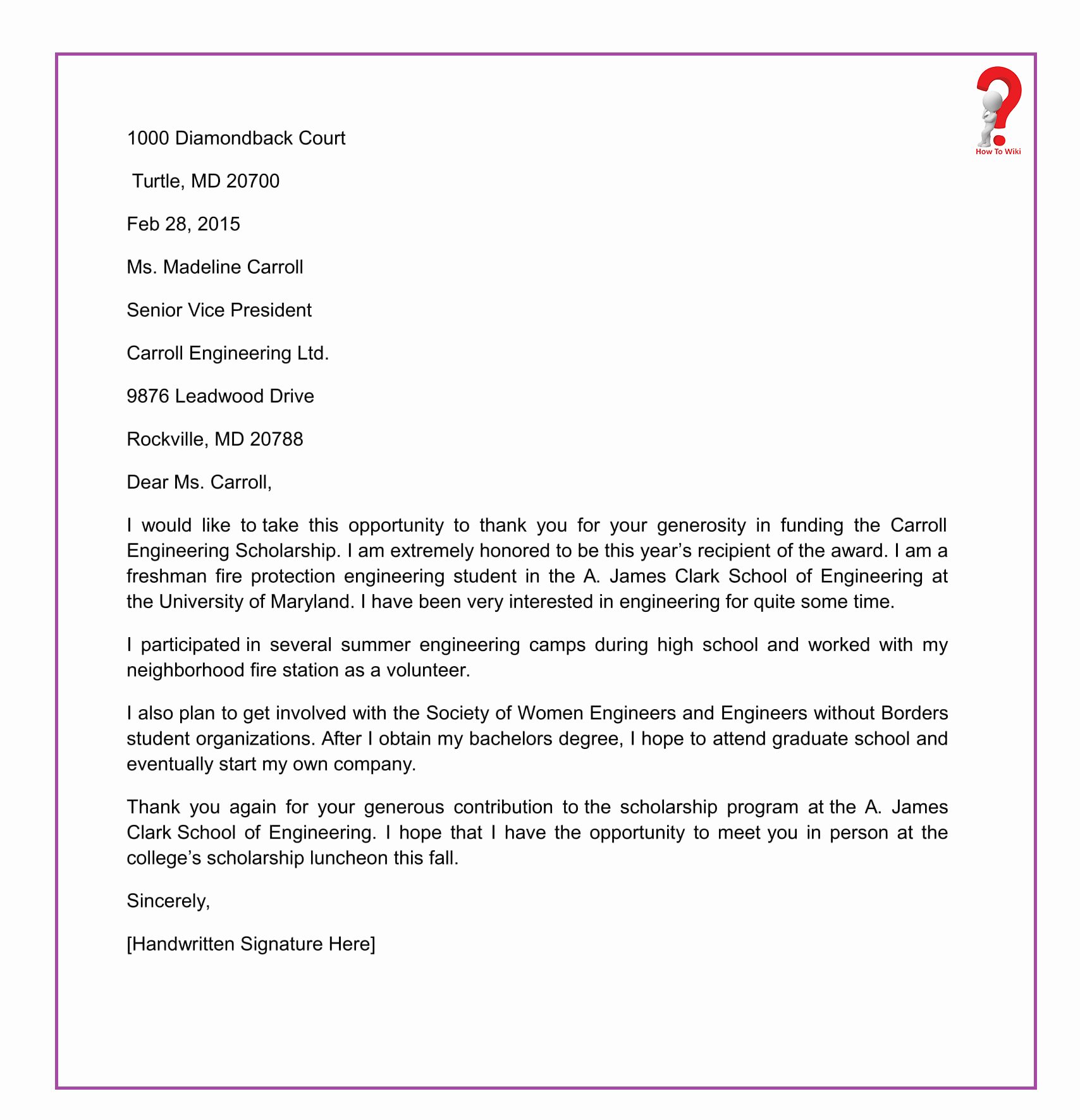 Scholarship Thank You Letter Template Lovely How to Write Thank You Letter for Scholarship