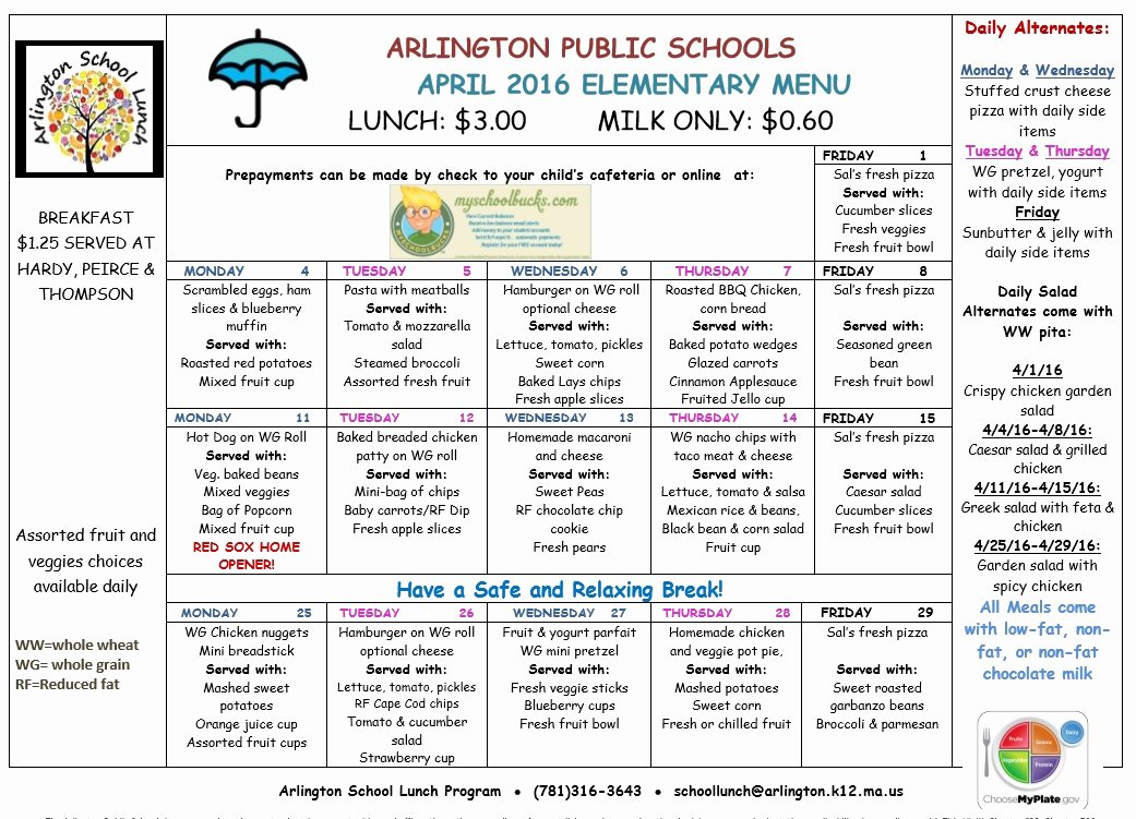 School Lunch Menu Template Inspirational 8 Free Sample School Menu Templates Printable Samples