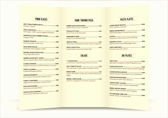 School Lunch Menu Template Lovely 30 Lunch Menu Templates – Free Sample Example format