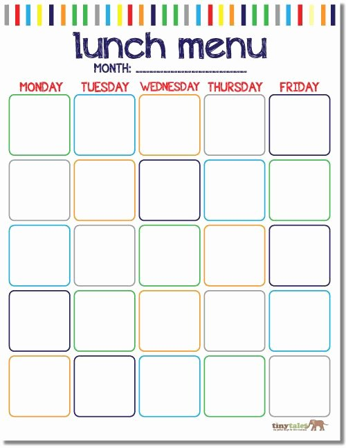 School Lunch Menu Template New Free School Lunch Calendar Printable