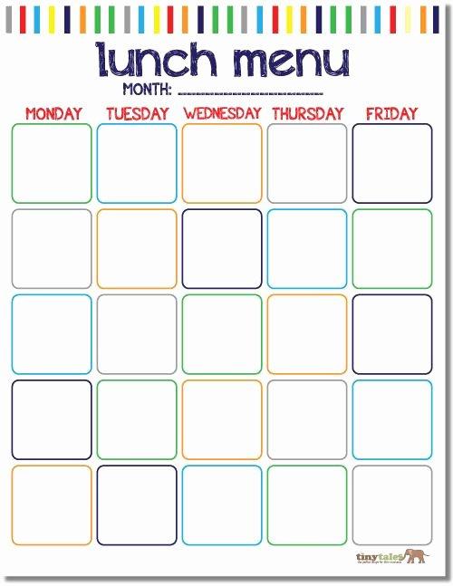 School Lunch Menu Template New Free School Lunch Calendar Printable