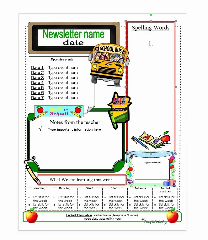 School Newsletter Templates Free Awesome 50 Free Newsletter Templates for Work School and