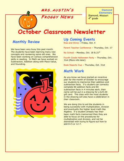 School Newsletter Templates Free Awesome Classroom Newsletter Template Download Create Edit