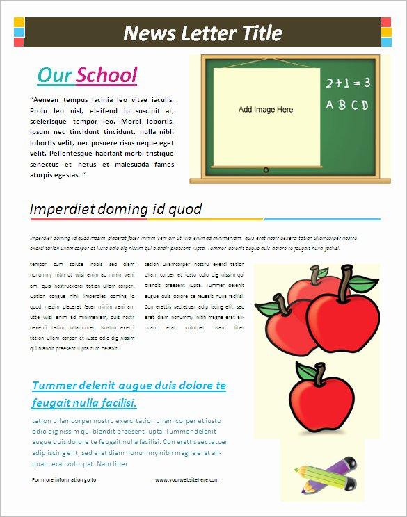 School Newsletter Templates Free Beautiful 12 School Newsletter Templates Doc Pdf