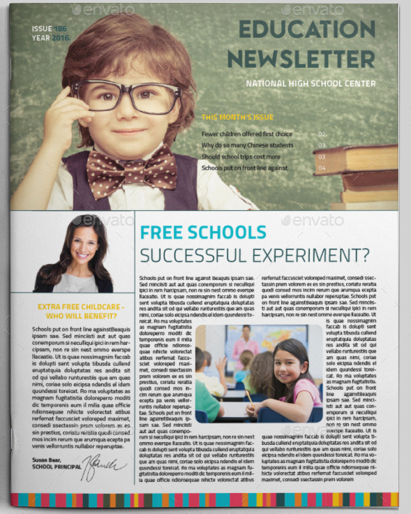 School Newsletter Templates Free Beautiful 15 Free Microsoft Word Newsletter Templates for Teachers