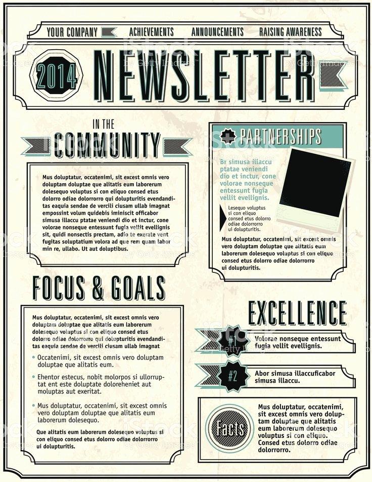 School Newsletter Templates Free Beautiful Best 25 Newsletter Template Free Ideas On Pinterest