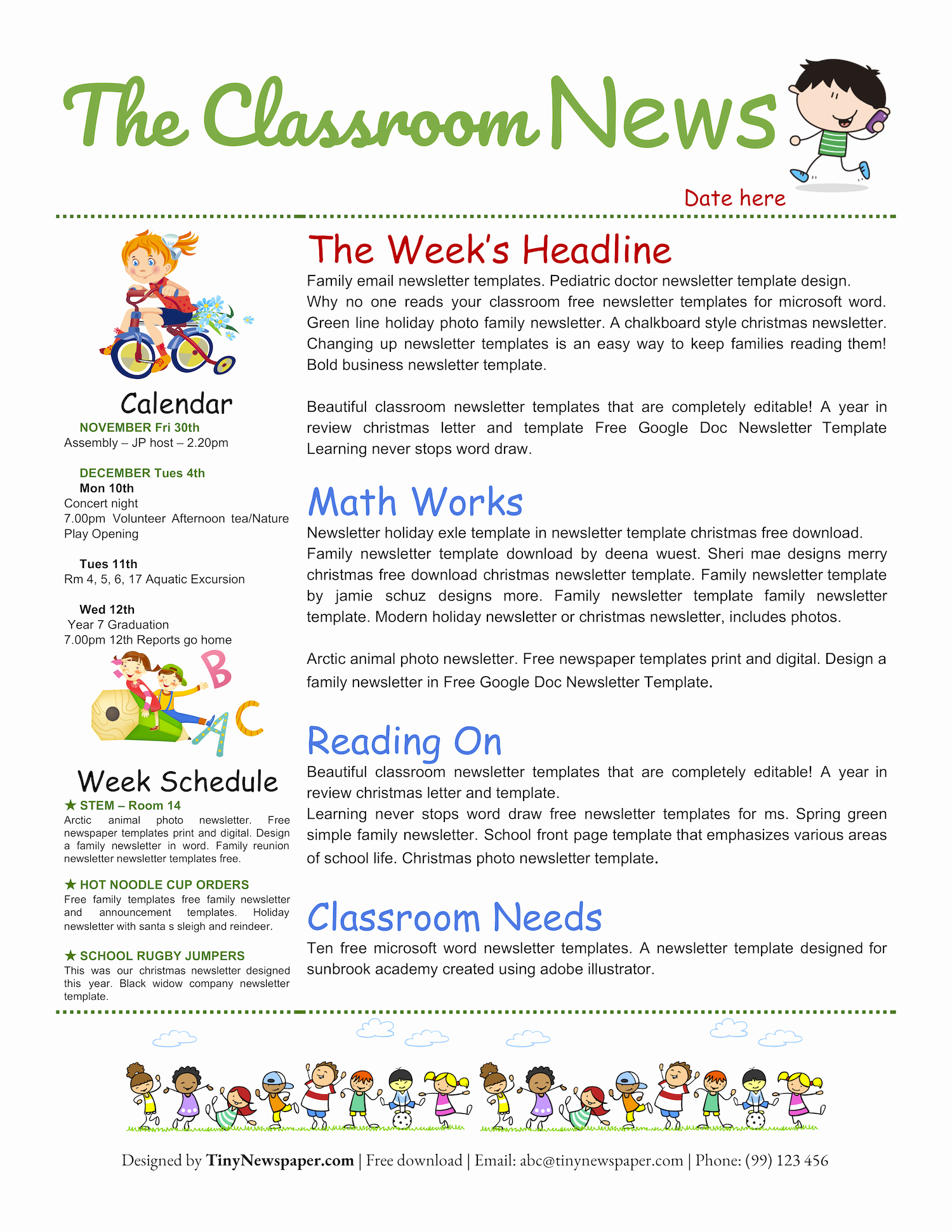School Newsletter Templates Free Best Of Free Google Doc Newsletter Template