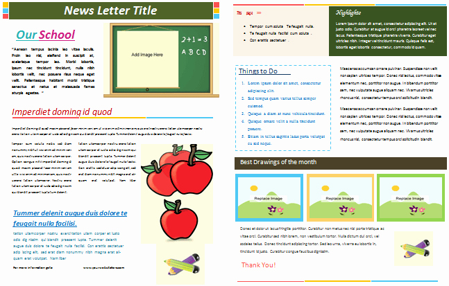 School Newsletter Templates Free Best Of School Newsletter Templates for Classroom and Parents