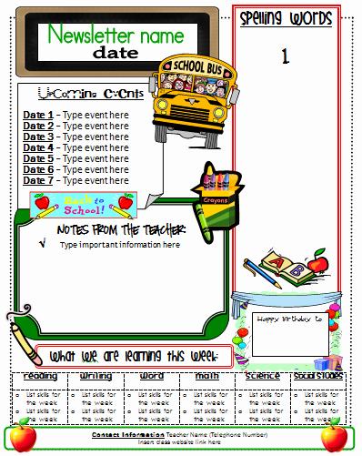 School Newsletter Templates Free Elegant Ginger Snaps Newsletter Template