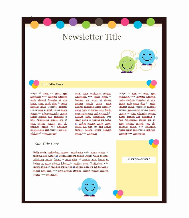 School Newsletter Templates Free Lovely 50 Free Newsletter Templates for Work School and Classroom
