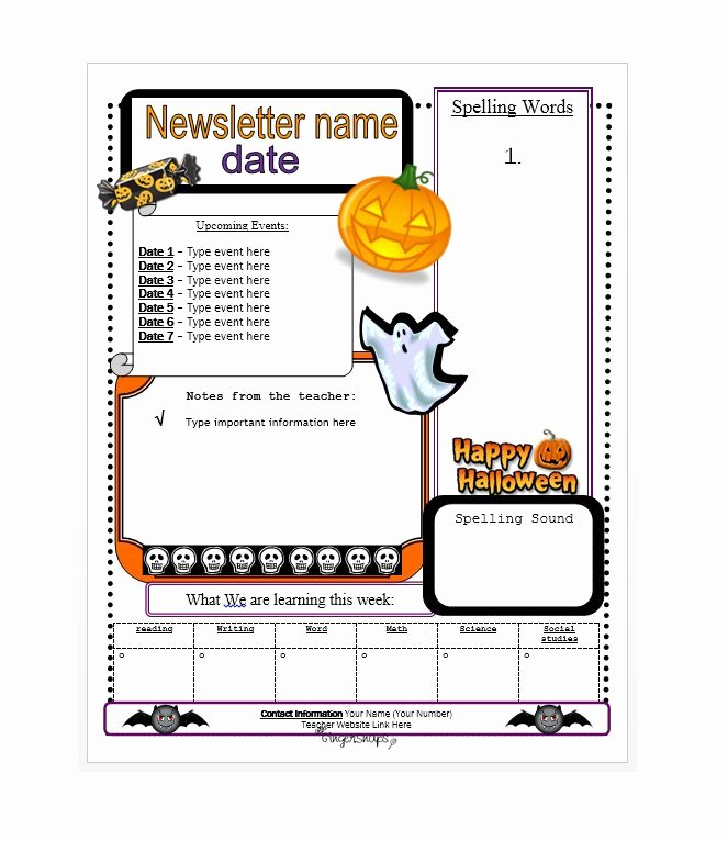 School Newsletter Templates Free New 50 Free Newsletter Templates for Work School and