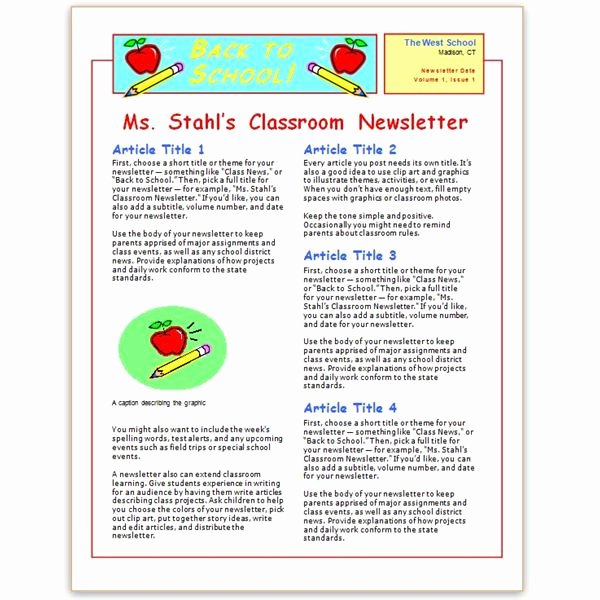 School Newsletter Templates Free New where to Find Free Church Newsletters Templates for