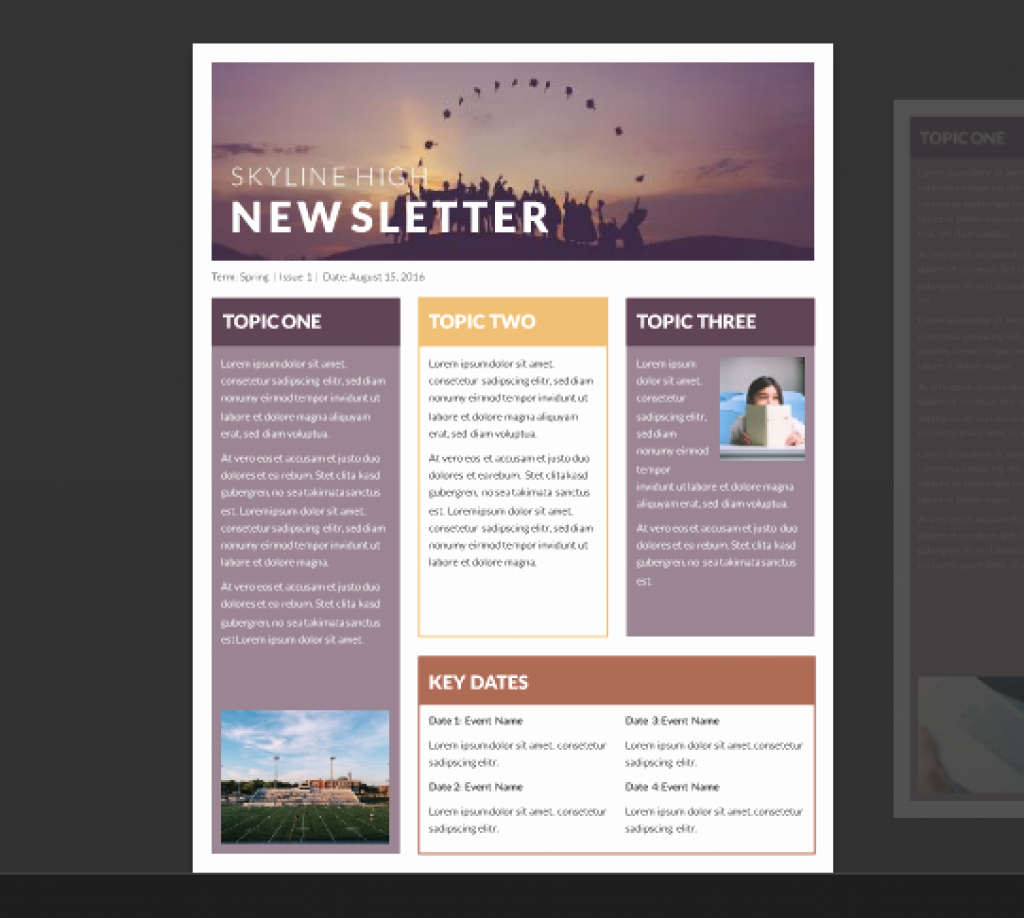School Newsletter Templates Free Unique Word Newsletter Template