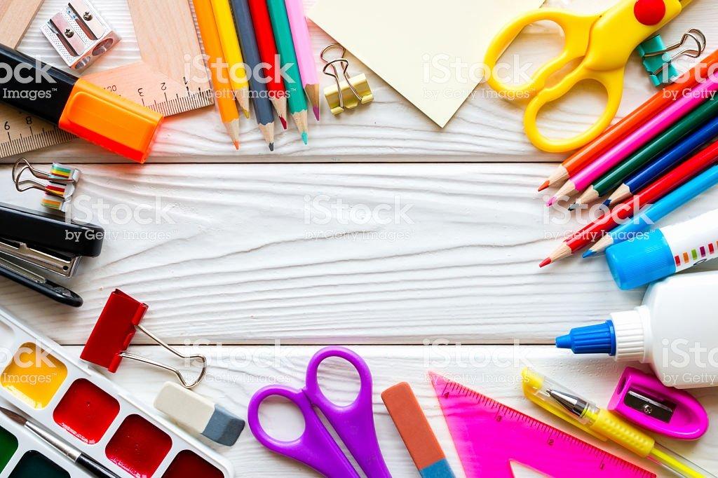 School Supplies List Template Elegant Template School Supplies A White Wooden Background