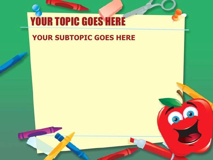 School Supplies List Template Lovely School Supplies Design Template