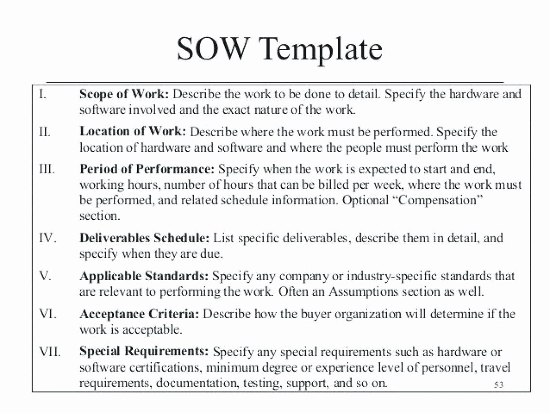 Scope Of Work Template Lovely 10 Scope Of Works Construction Template