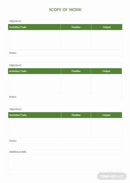 Scope Of Work Template Word Elegant Simple Scope Of Work Template In Microsoft Word Pdf