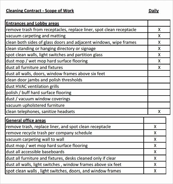 Scope Of Work Template Word Inspirational Scope Work Templates