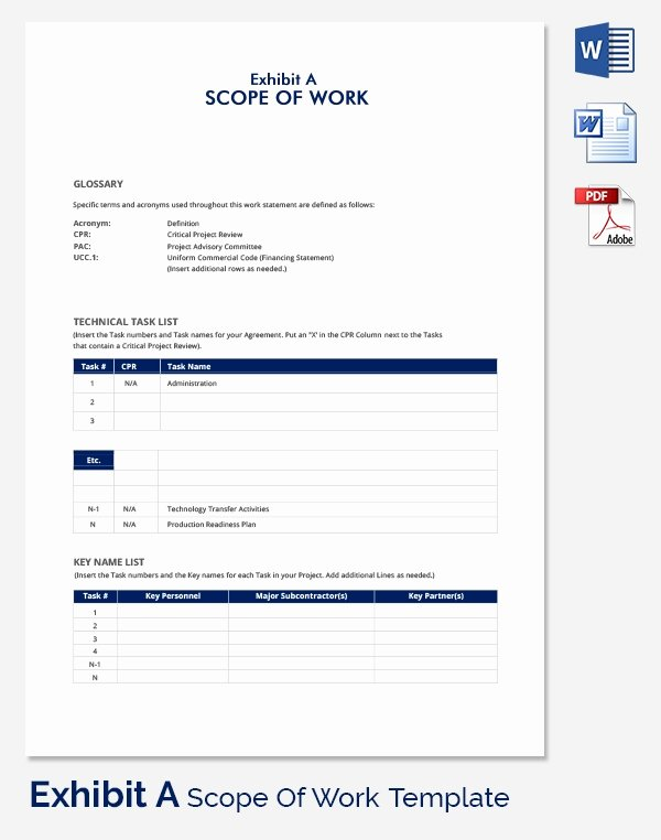 Scope Of Work Template Word Luxury Scope Of Work Template 36 Free Word Pdf Documents