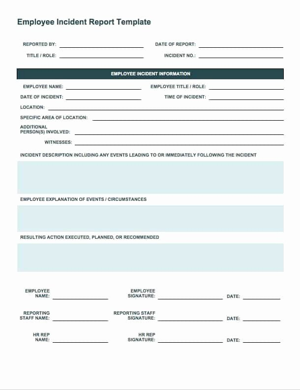 Security Incident Report Template Elegant Free Incident Report Templates Smartsheet