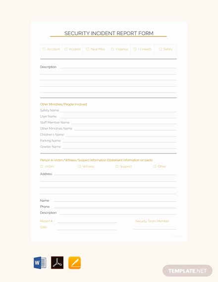 Security Incident Report Template Fresh Free Security Incident Report Template Pdf