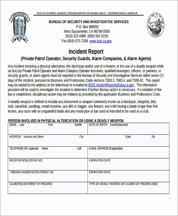 Security Incident Report Template Unique Hire Writer Pare and Contrast Essay to Efi