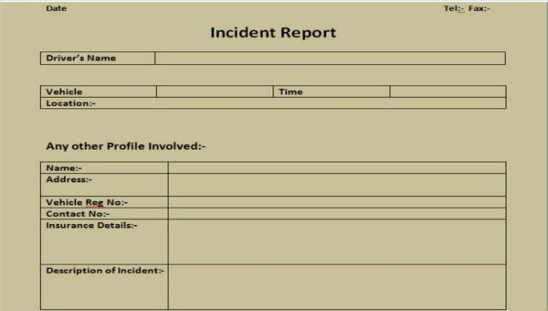 Security Incident Report Template Word Beautiful 39 Incident Report Templates In Word