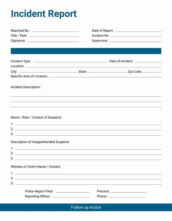 Security Incident Report Template Word Best Of 33 Incident Report format
