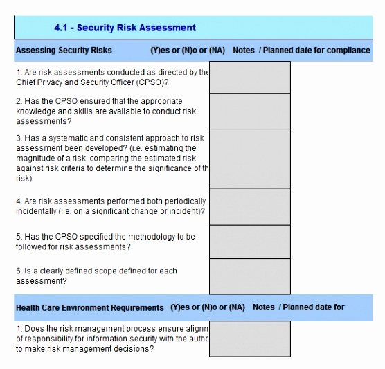 Security Risk assessment Template Awesome 12 Security Risk Analysis Meaningful Use Template Ueeat