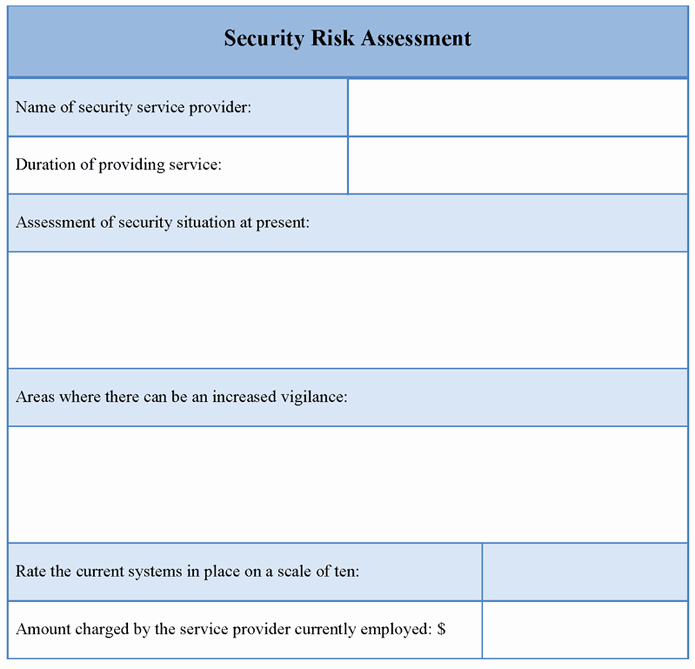 Security Risk assessment Template Fresh assessment Template for Security Risk Example Of Security