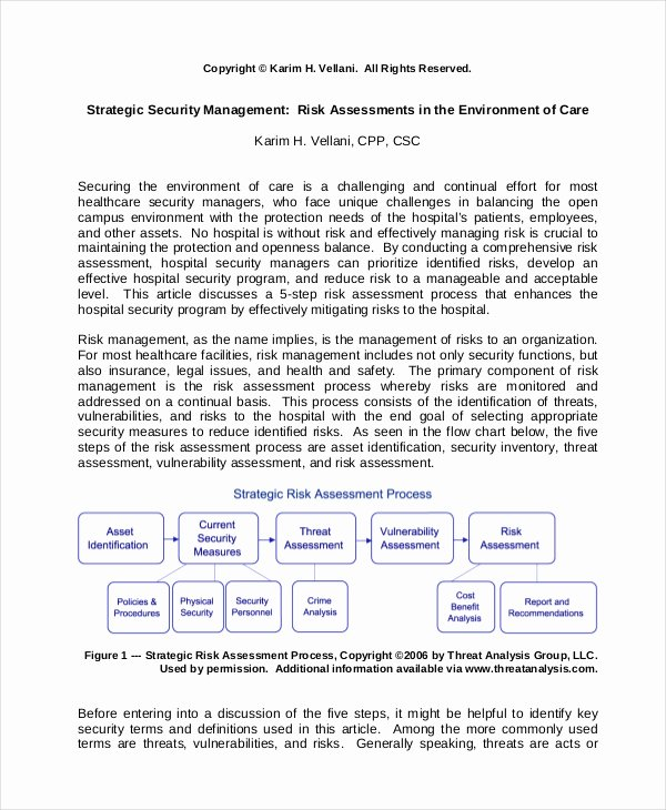 Security Risk assessment Template Luxury 25 Of Physical Security assessment Template