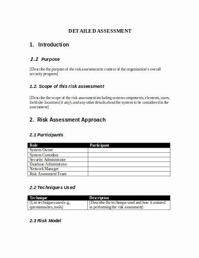 Security Risk assessment Template Luxury 9 Hipaa Security Risk Analysis Template Pdf Word