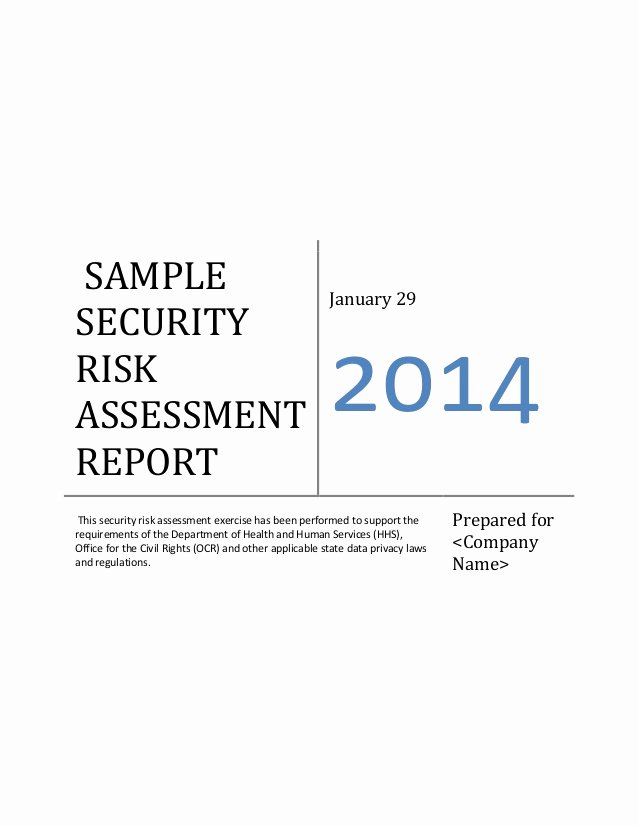 Security Risk assessment Template Unique Ehr Meaningful Use Security Risk assessment Sample Document