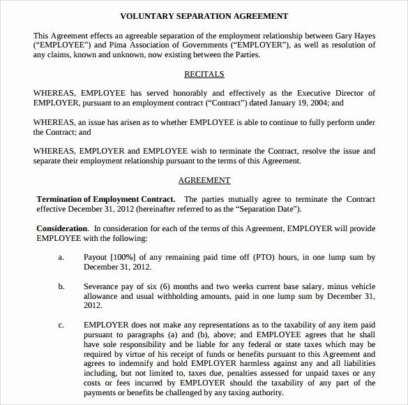 Separation Agreement Template Word Best Of Sample Separation Agreement 9 Documents In Pdf Word
