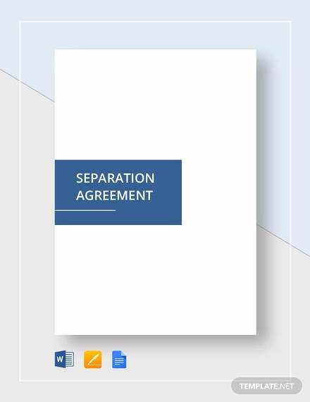 Separation Agreement Template Word Fresh Free 11 Separation Agreement Templates In Pdf