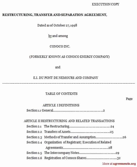 Separation Agreement Template Word Unique top 5 Free formats Of Separation Agreement Templates