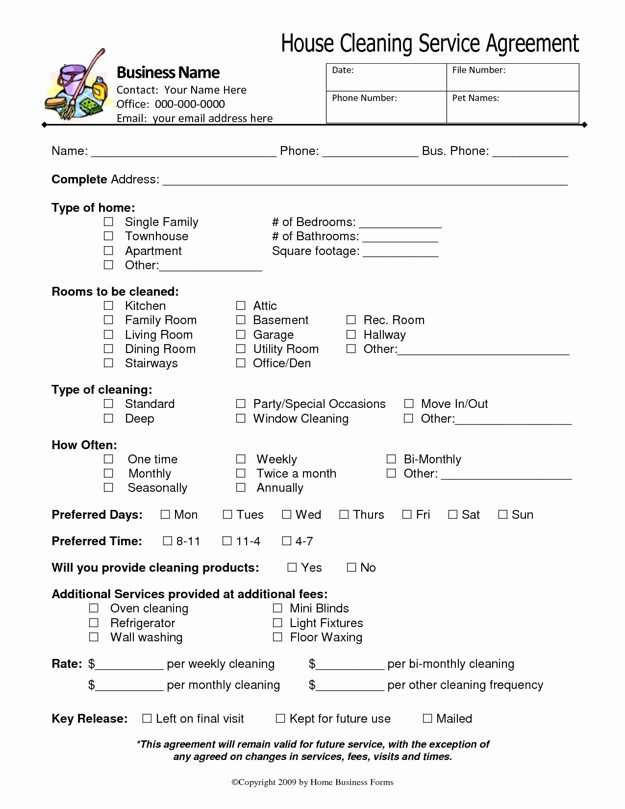 Service Agreement Template Pdf Best Of Know About House Cleaning Services Agreement – Home Services