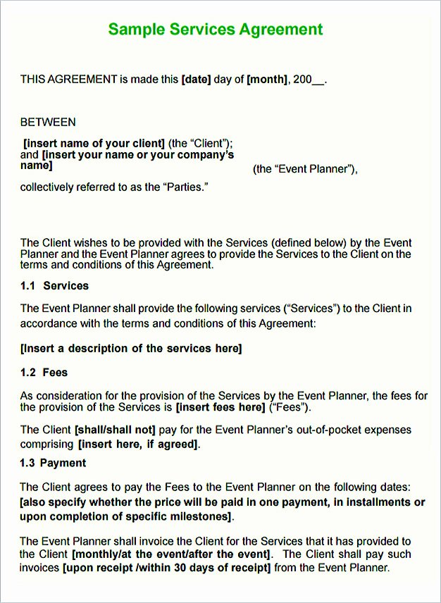 Service Agreement Template Pdf Best Of Service Contract Template and Important Terms to Write