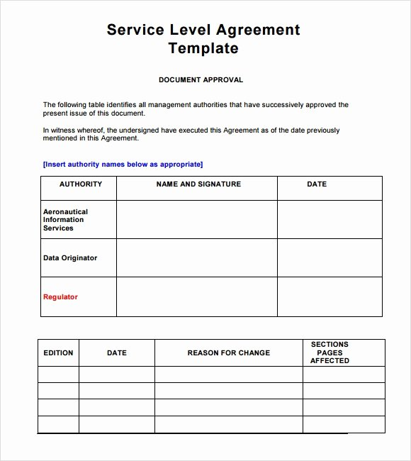 Service Agreement Template Pdf Elegant 18 Service Level Agreement Samples Word Pdf